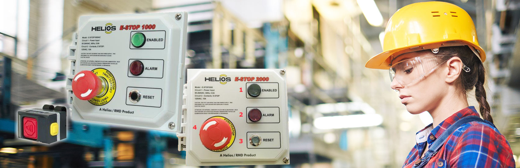 Help prevent injury or death through industrial accidents  - equip your employees with wireless emergency stop technology from Helios Global Technologies
